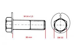 Exzenterschraube M14x1,5-90